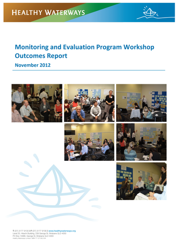 Monitoring and Evaluation Program Workshop Outcomes Report_Final