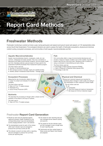 2008 Healthy Waterways Annual Report Card Methods
