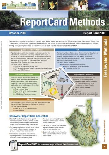 2005 Healthy Waterways Annual Report Card Methods
