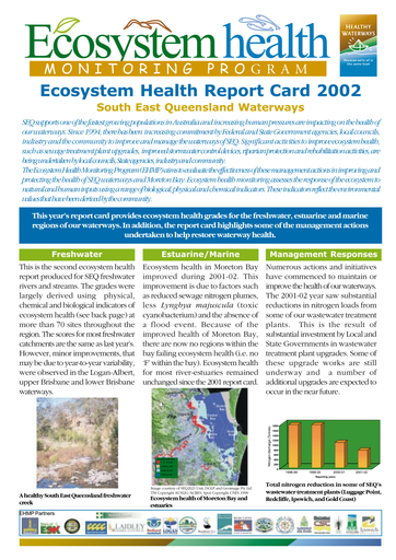 2002 Healthy Waterways Annual Report Card