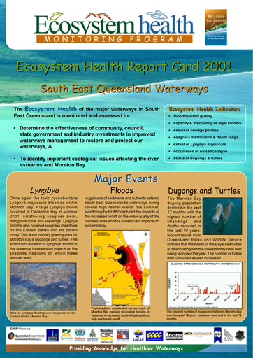 2001 Healthy Waterways Report Card - Freshwater
