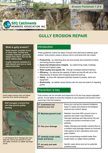 1/5: Gully Erosion Repair