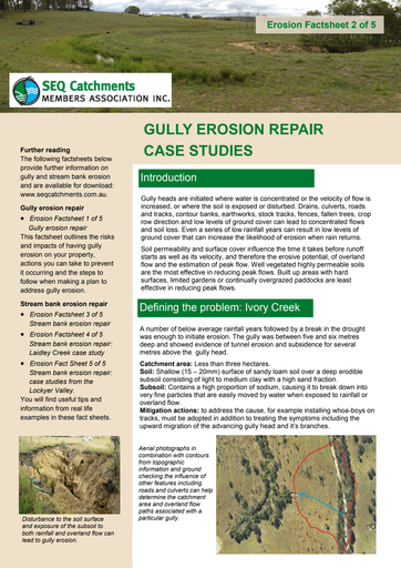 2/5: Gully Erosion Repair Case Studies