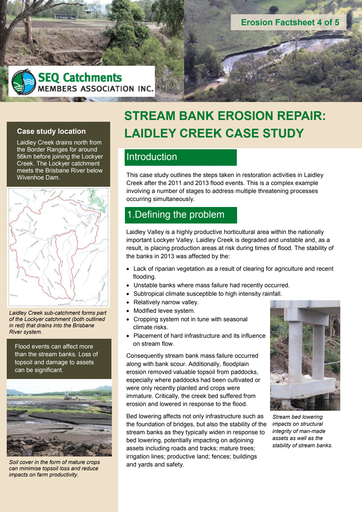 4/5: Stream Bank Erosion Repair: Laidley Creek Case Study