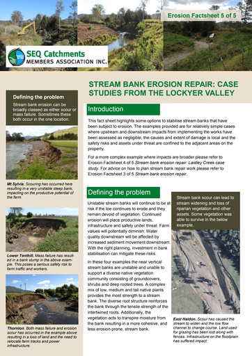 5/5: Stream Bank Erosion Repair: Case Study from the Lockyer Valley