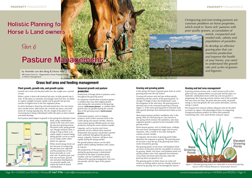 Part 6: Pasture management for horses