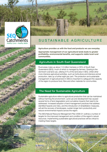 Sustainable Agriculture fact sheet