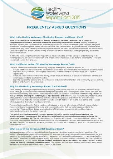 2015 Report Card Frequently Asked Questions