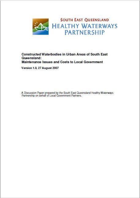 Constructed Waterbodies in Urban Areas of South East Queensland: Maintenance Issues and Costs to Local Government