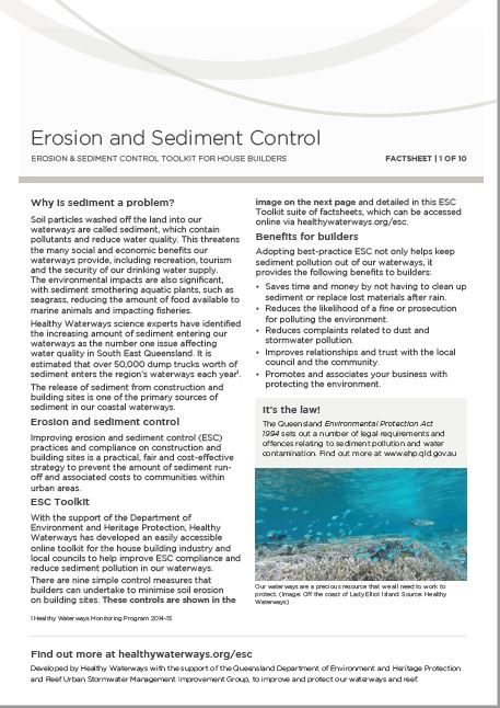 ESC Factsheet 1: Erosion and Sediment Control