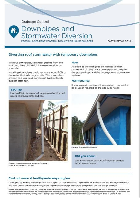 ESC Factsheet 8: Downpipes and Stormwater Diversion