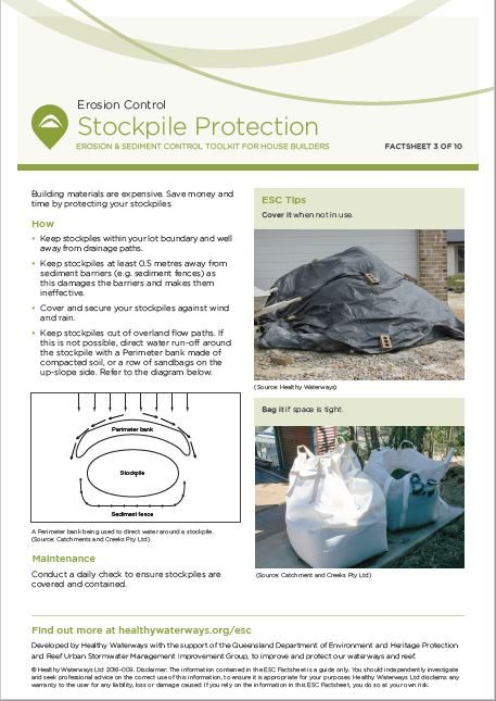 ESC Factsheet 3: Stockpile Protection