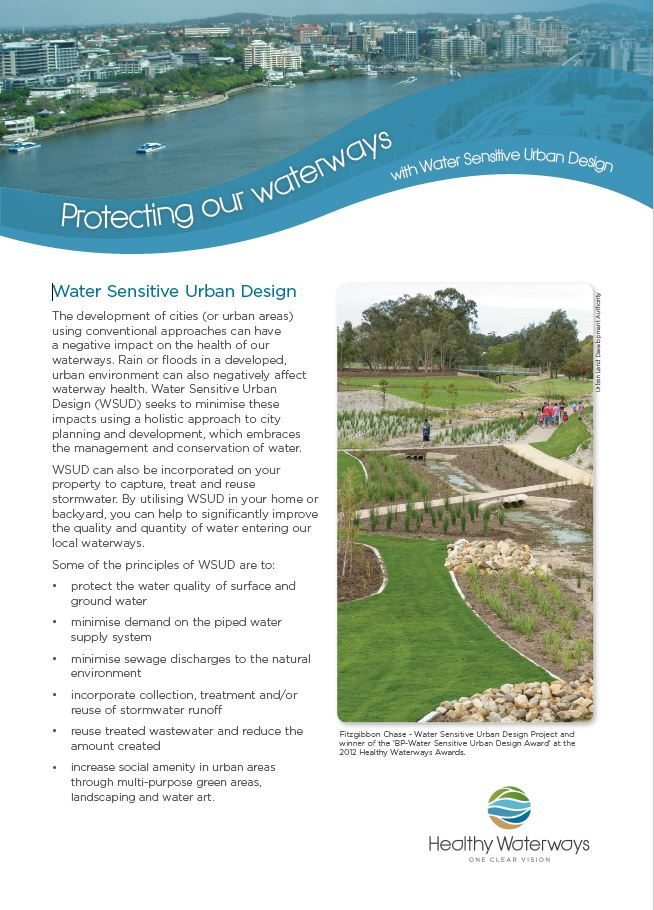Protecting Our Waterways with Water Sensitive Urban Design