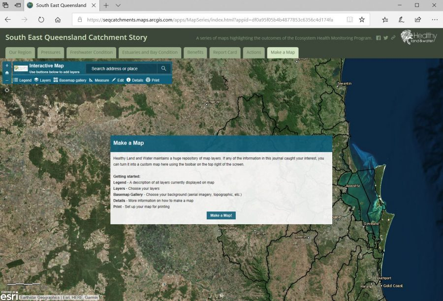 South East Queensland Catchment Storymap