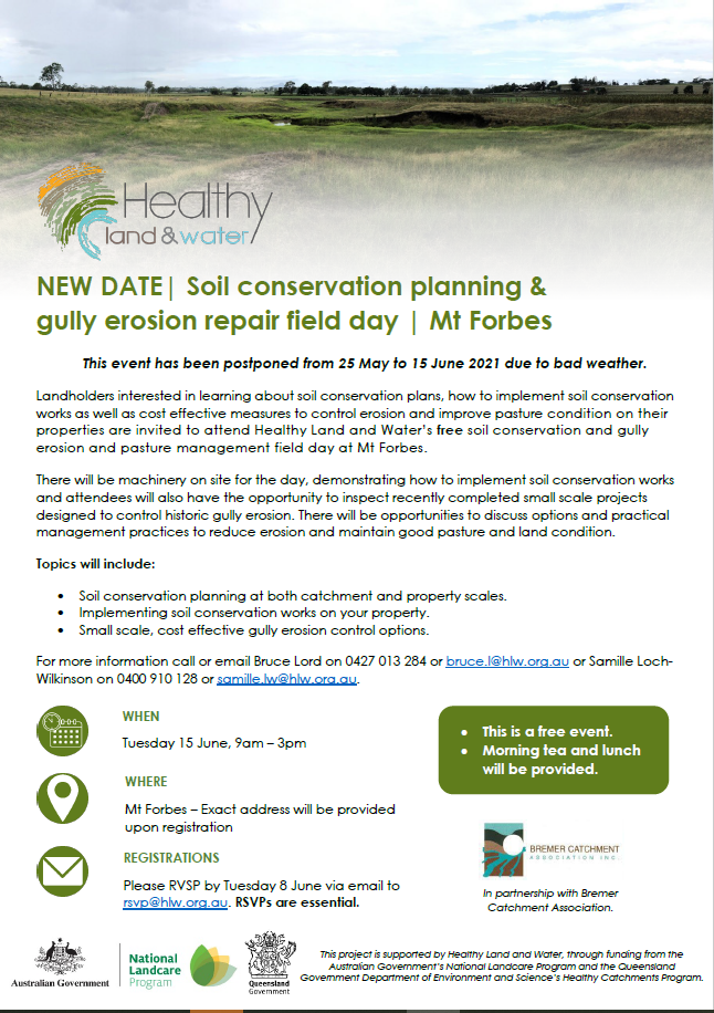 Soil conservation field day Mt Forbes 15 June