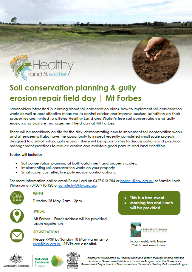 Soil conservation field day Mt Forbes 25 May