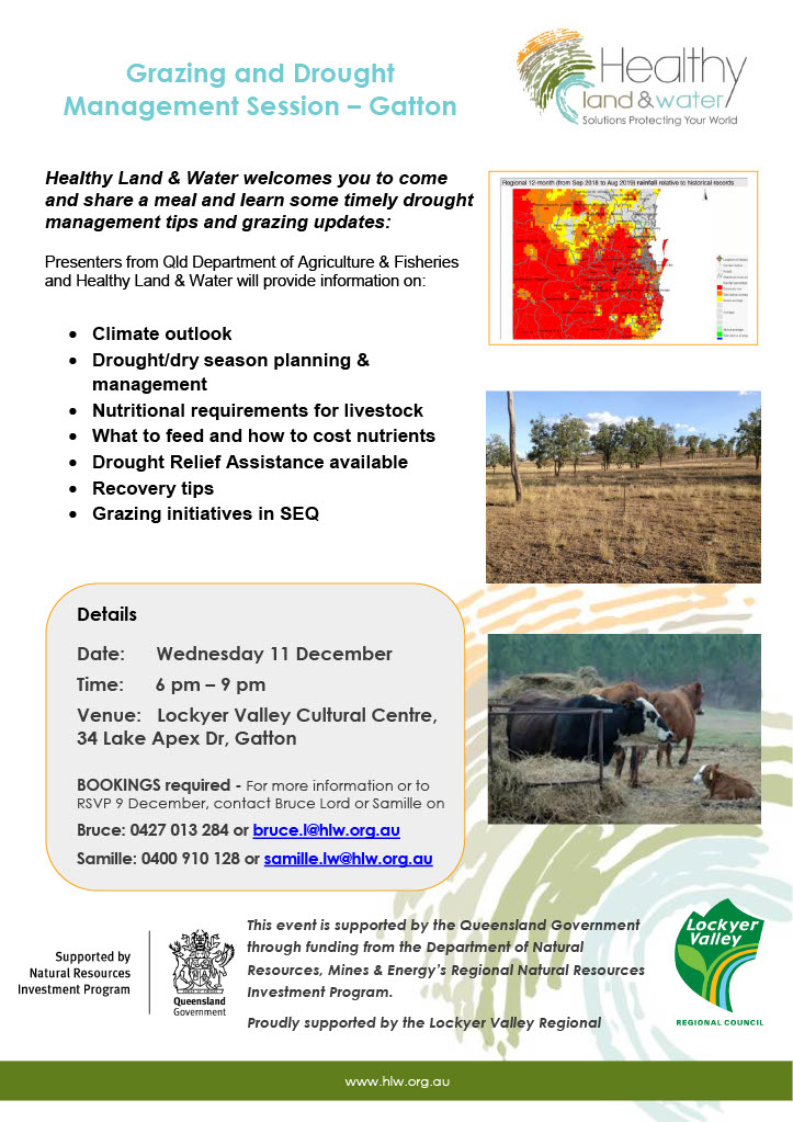 Grazing Drought Management session - Gatton 11 Dec 2019